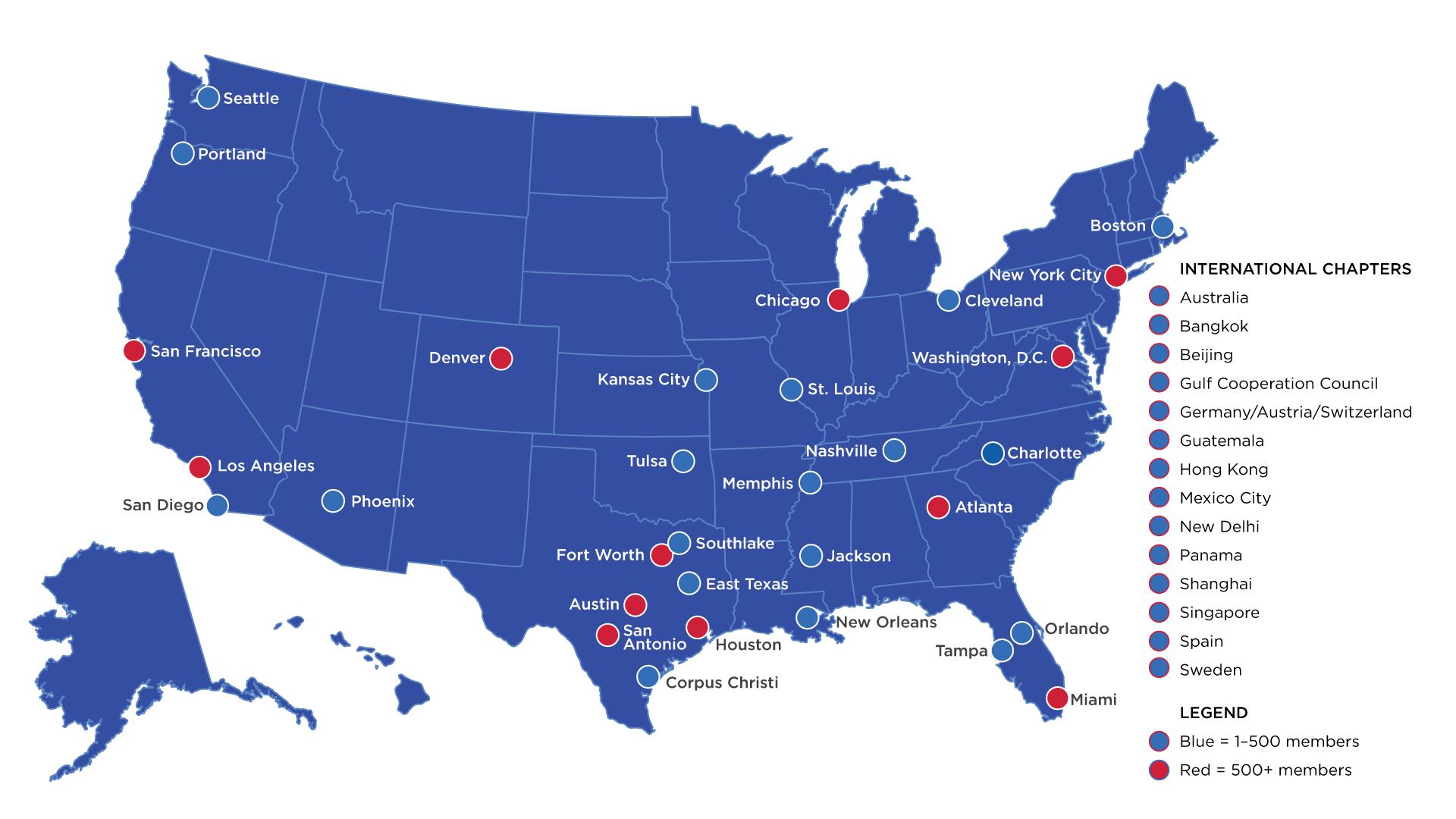 Alumni Board Chapter Map