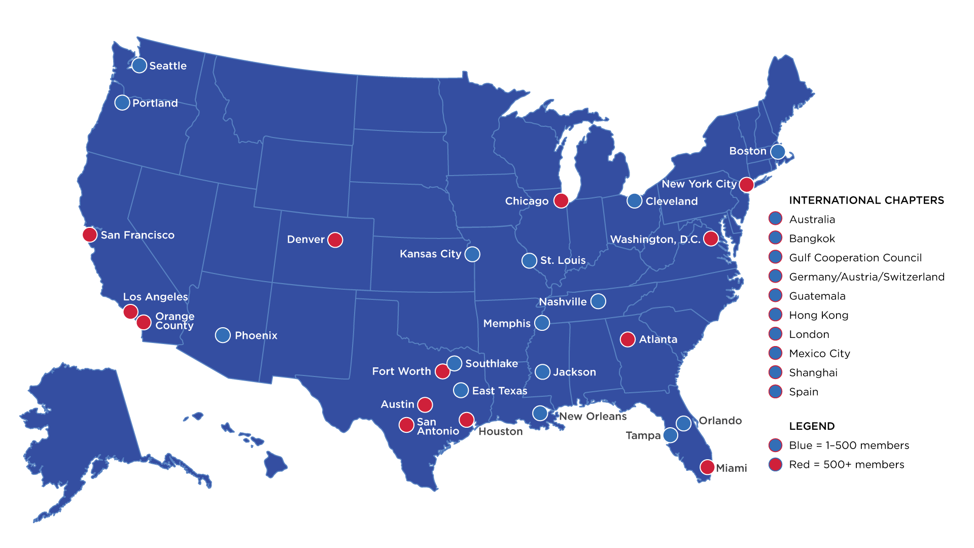 Alumni Chapters SMU - Usa map memphis